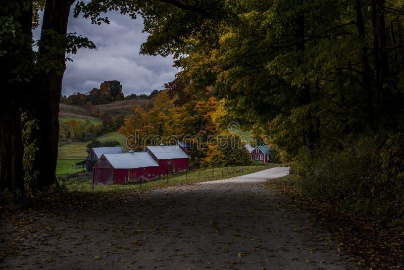 Jenne gospodarstwo rolne w Vermont obrazy stock