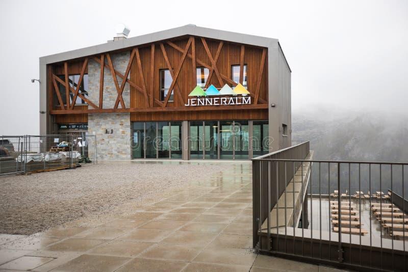 Jenneralm mountain peak jenner bavaria germania fotografia stock libera da diritti
