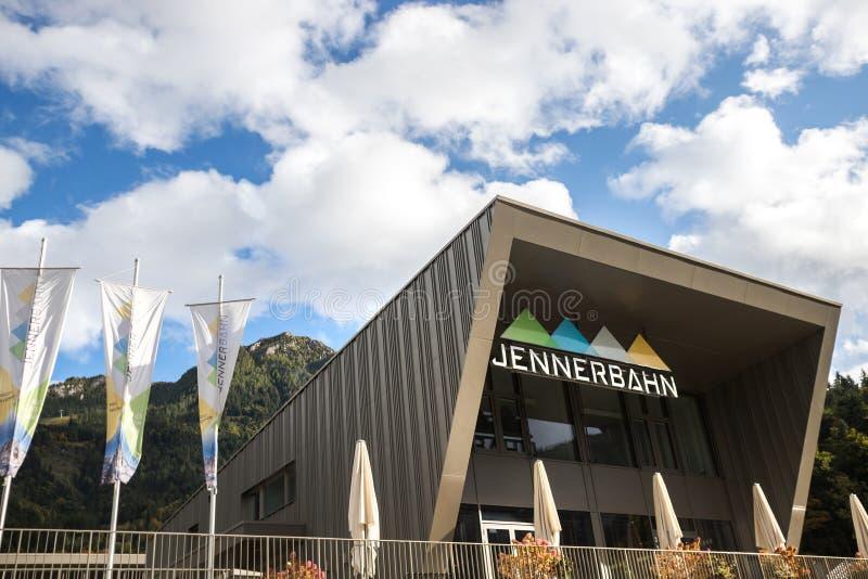 Jennerbahn funicolare ground station jenner bavaria germania fotografia stock libera da diritti