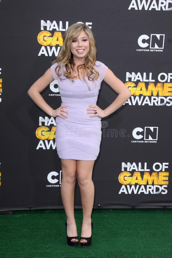 Jennette McCurdy at the Cartoon Network Hall of Game Awards, Barker Hangar, Santa Monica, CA 02-18-12 royalty free stock images