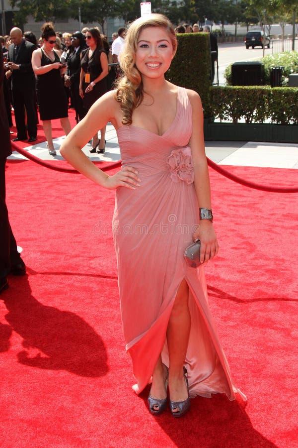 Jennette McCurdy an den 2011 Primetime kreativen Künsten Emmy Awards, Nokia-Theater L.A. Live, Los Angeles, CA 09-10-11 stockfoto
