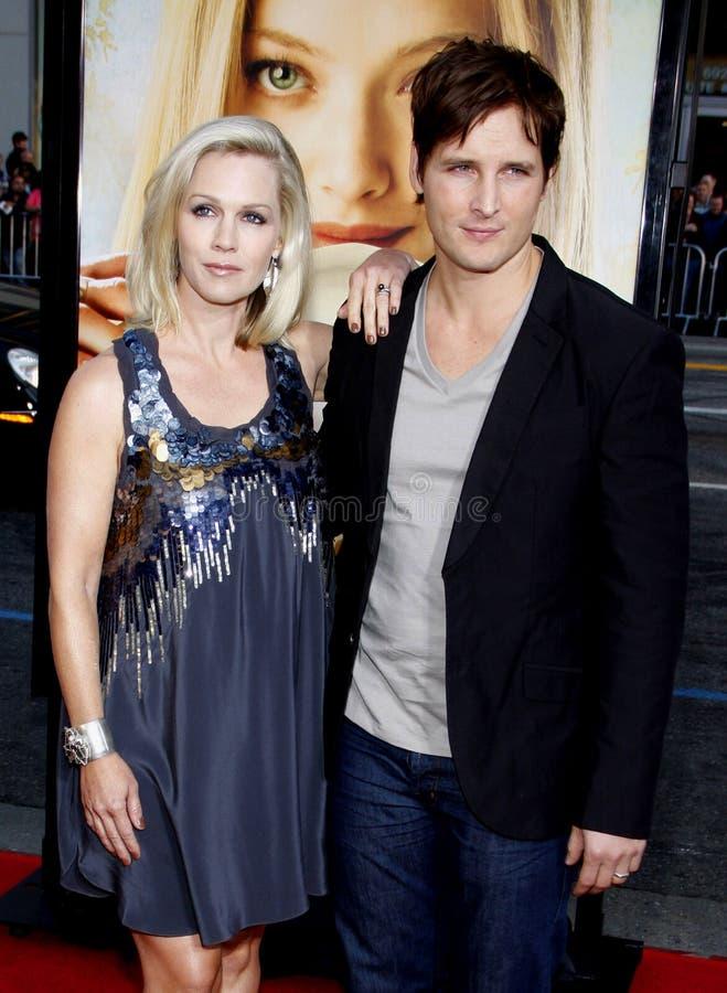 Jennie Garth en Peter Facinelli royalty-vrije stock foto's