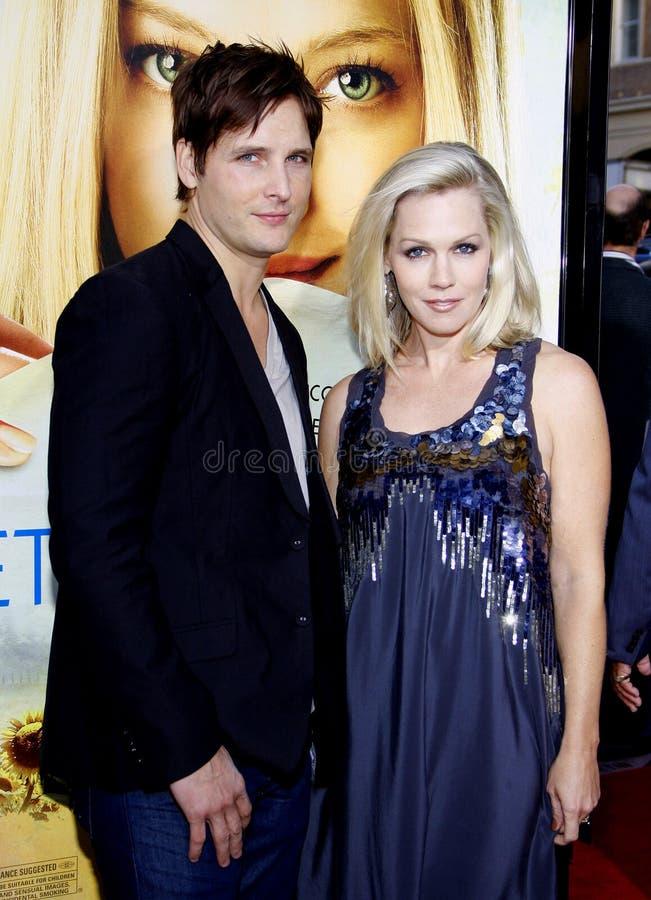 Jennie Garth en Peter Facinelli stock fotografie