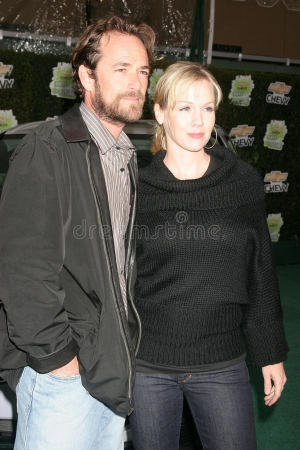 Jennie Garth, Luke Perry royalty-vrije stock fotografie