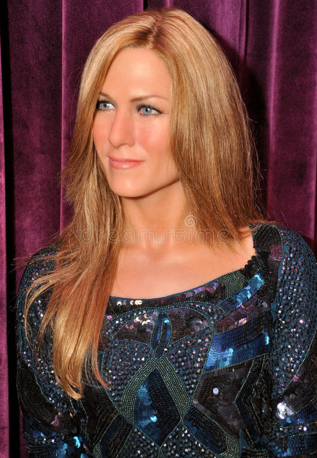 Jennifer Aniston. Wax statue of Jennifer Aniston, Hollywood celebrity and actress, image taken at the Madame Tussauds museum at Hollywood, Los Angeles stock photography