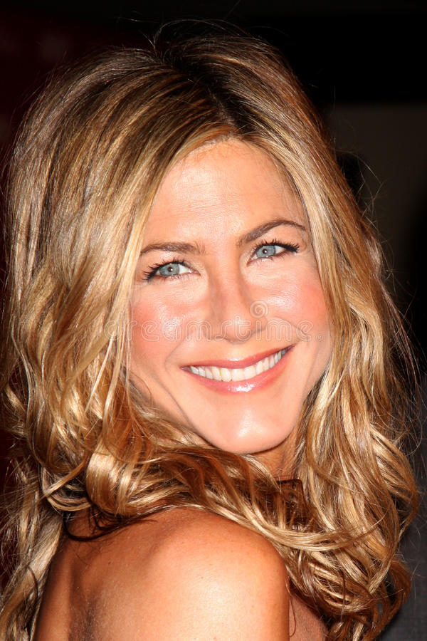 Jennifer Aniston. Arriving at the Women in Film Annual Crystal & Lucy Awards at the Century Plaza Hotel in Century City , CA on June 12, 2009 stock photography
