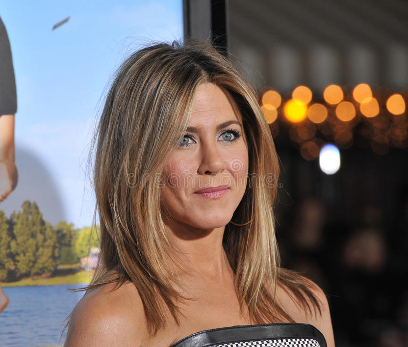 Jennifer Aniston. At the world premiere of her new movie Wanderlust at the Mann Village Theatre, Westwood. February 16, 2012 Los Angeles, CA Picture: Paul Smith royalty free stock photo