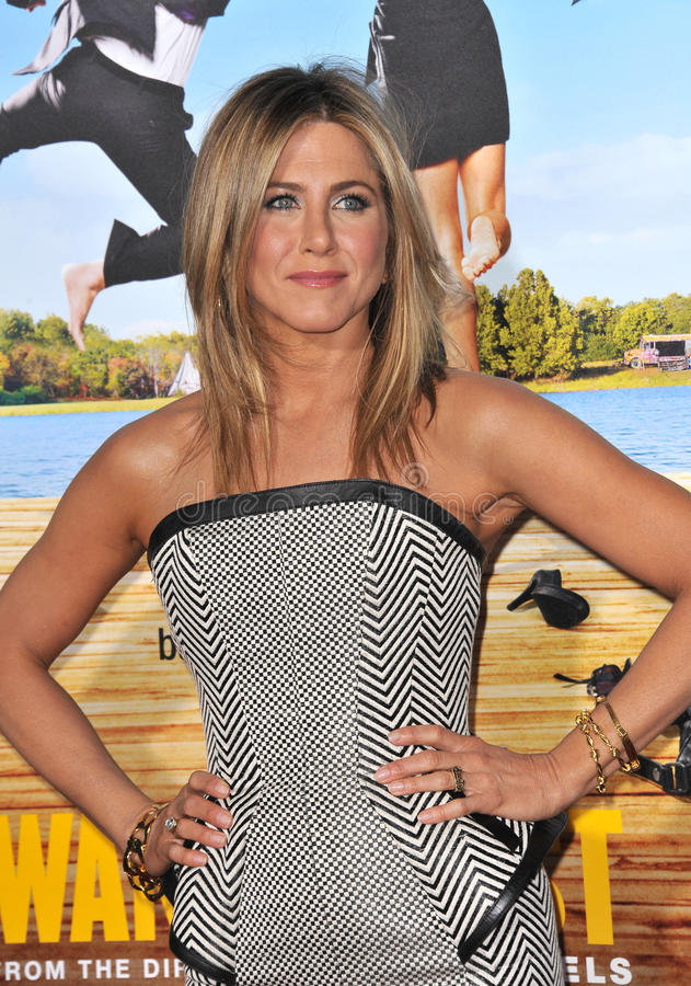 Jennifer Aniston. At the world premiere of her new movie Wanderlust at the Mann Village Theatre, Westwood. February 16, 2012 Los Angeles, CA Picture: Paul Smith royalty free stock images