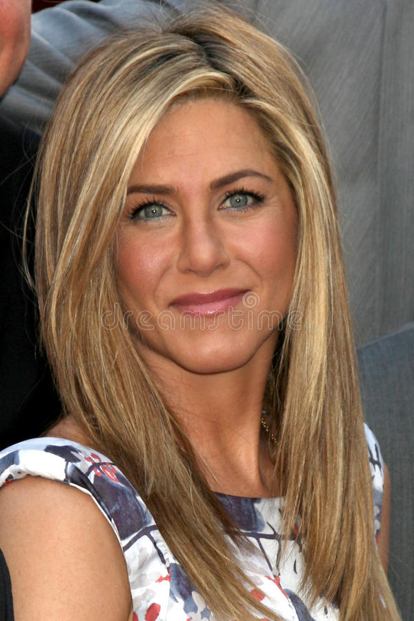 Jennifer Aniston. LOS ANGELES - FEB 22: Jennifer Aniston at the Jennifer Aniston Hollywood Walk of Fame Star Ceremony at the W Hollywood on February 22, 2012 in royalty free stock photography