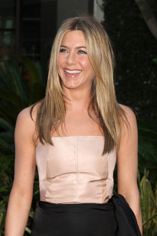 Jennifer Aniston. LOS ANGELES - AUG 16: Jennifer Aniston arrives at The Switch Premiere at ArcLight Theaters on August 16, 2010 in Los Angeles, CA royalty free stock photography