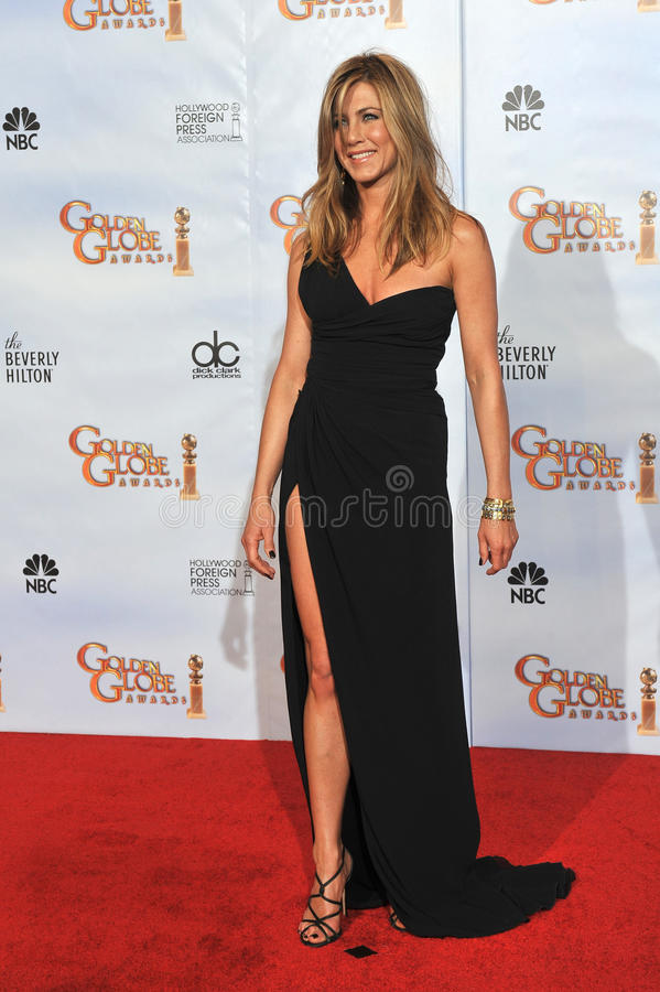 Jennifer Aniston. At the 67th Golden Globe Awards at the Beverly Hilton Hotel. January 17, 2010 Beverly Hills, CA Picture: Paul Smith / Featureflash royalty free stock photography