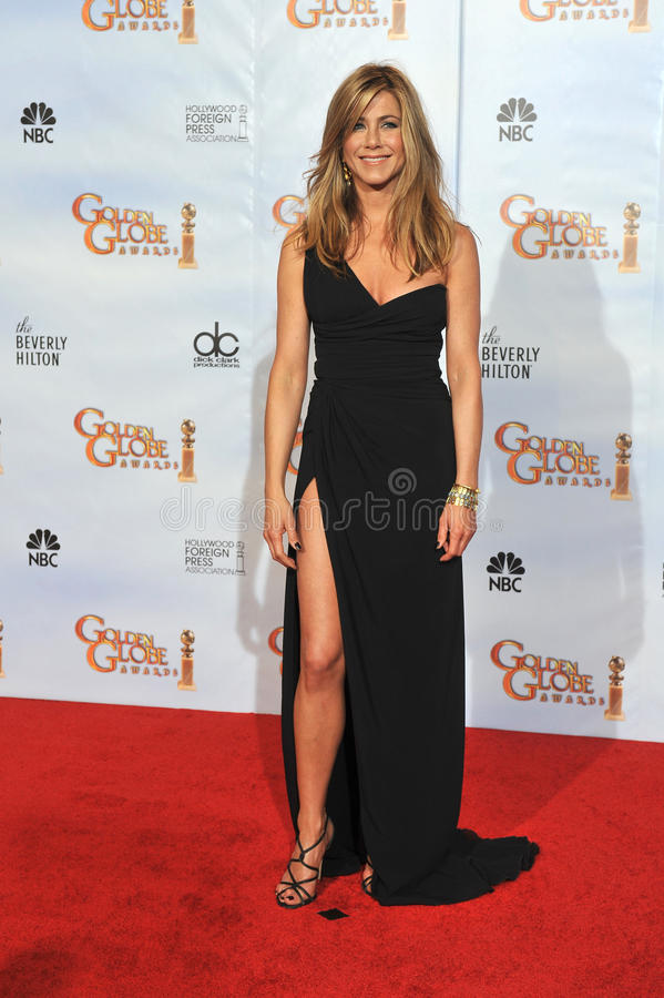 Jennifer Aniston. At the 67th Golden Globe Awards at the Beverly Hilton Hotel. January 17, 2010 Beverly Hills, CA Picture: Paul Smith / Featureflash royalty free stock images
