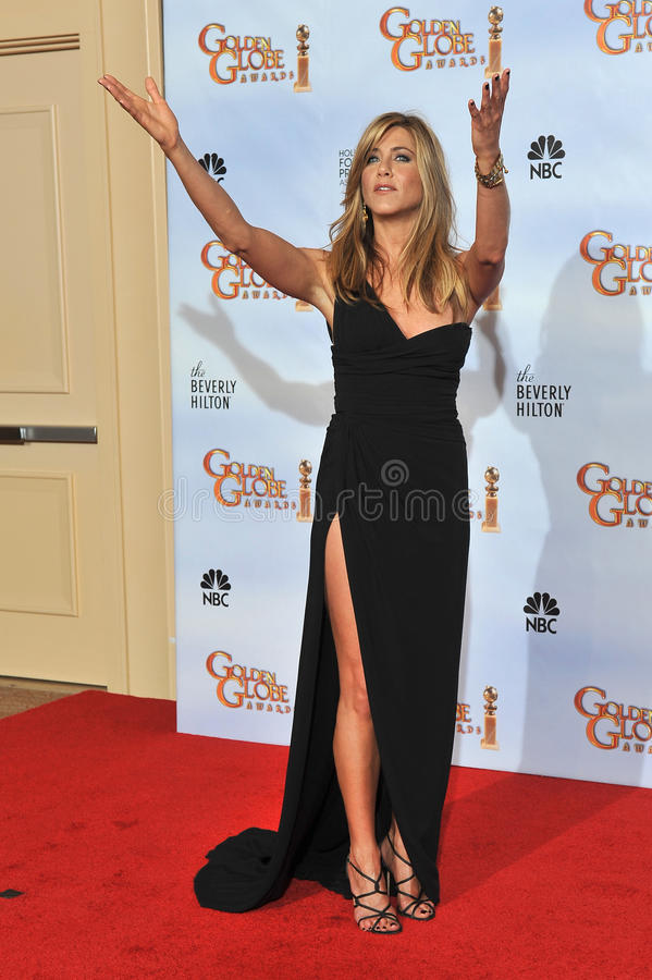 Jennifer Aniston. At the 67th Golden Globe Awards at the Beverly Hilton Hotel. January 17, 2010 Beverly Hills, CA Picture: Paul Smith / Featureflash stock image