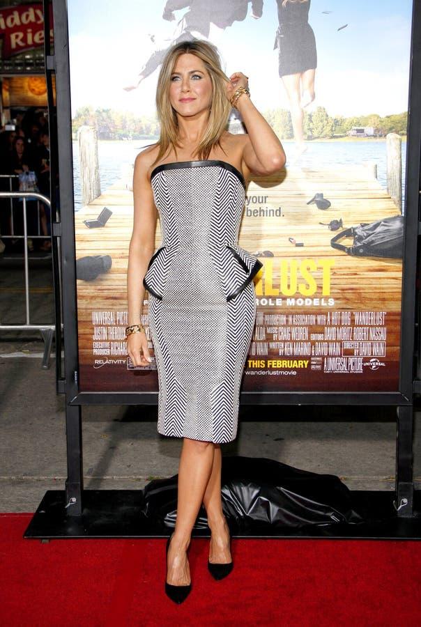 Jennifer Aniston imagen de archivo libre de regalías