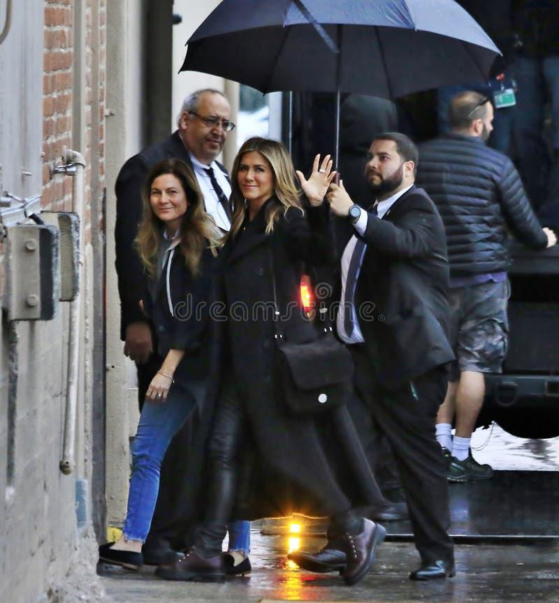 Jennifer Aniston em Hollywood imagens de stock royalty free