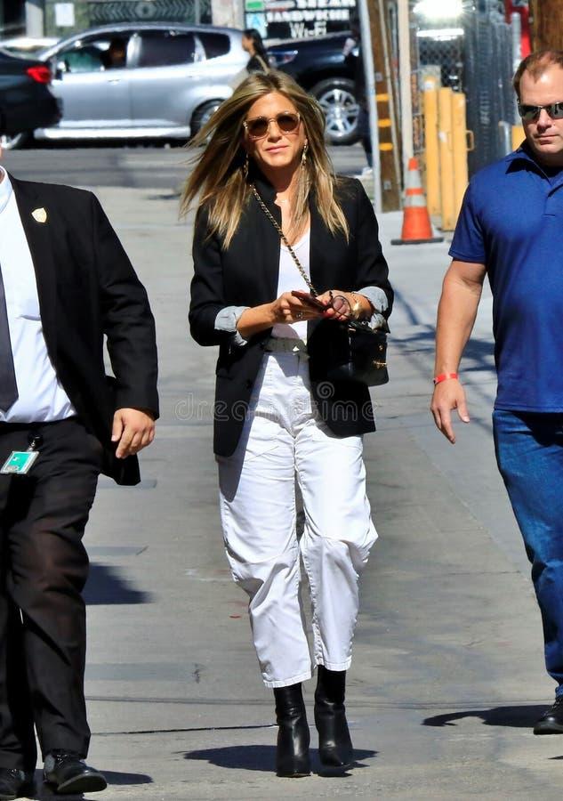 Jennifer Aniston em Hollywood fotografia de stock