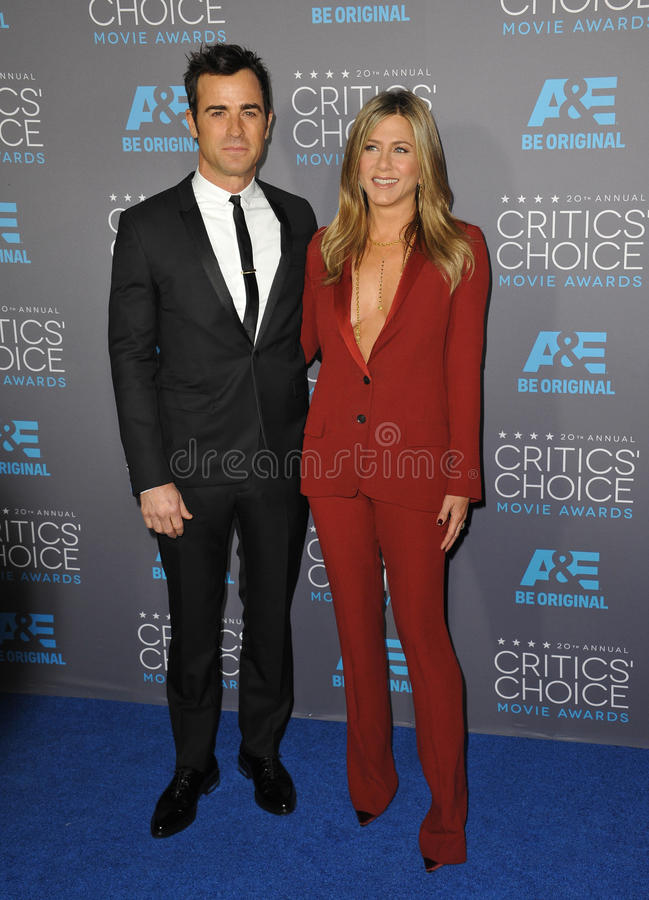 Jennifer Aniston et Justin Theroux image libre de droits