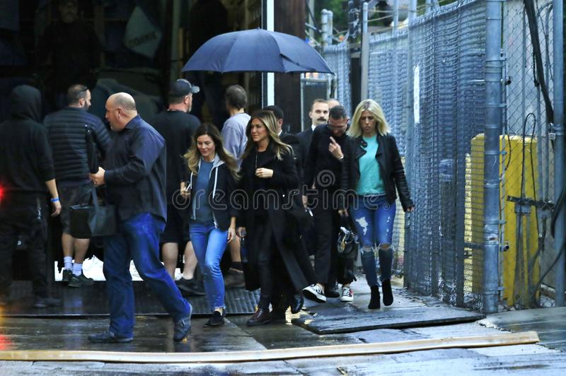 Jennifer Aniston a Hollywood fotografia stock libera da diritti