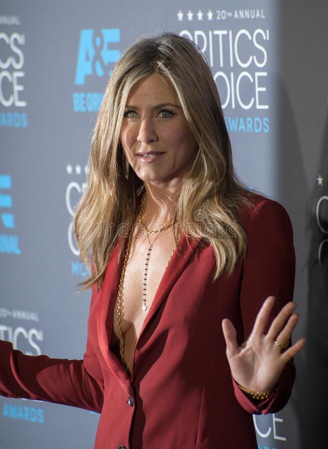 Jennifer Aniston. LOS ANGELES, CA - JANUARY 15, 2015: Jennifer Aniston at the 20th Annual Critics' Choice Movie Awards at the Hollywood Palladium royalty free stock photography