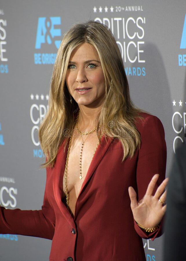 Jennifer Aniston. LOS ANGELES, CA - JANUARY 15, 2015: Jennifer Aniston at the 20th Annual Critics' Choice Movie Awards at the Hollywood Palladium royalty free stock image