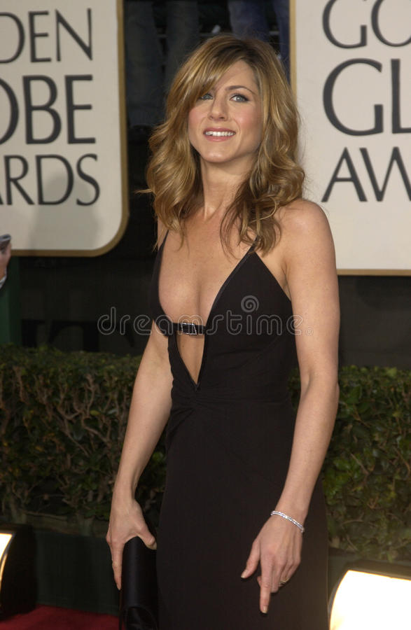 Jennifer Aniston. At the 61st Annual Golden Globe Awards at the Beverly Hilton Hotel, Beverly Hills, CA. January 25, 2004 royalty free stock photography