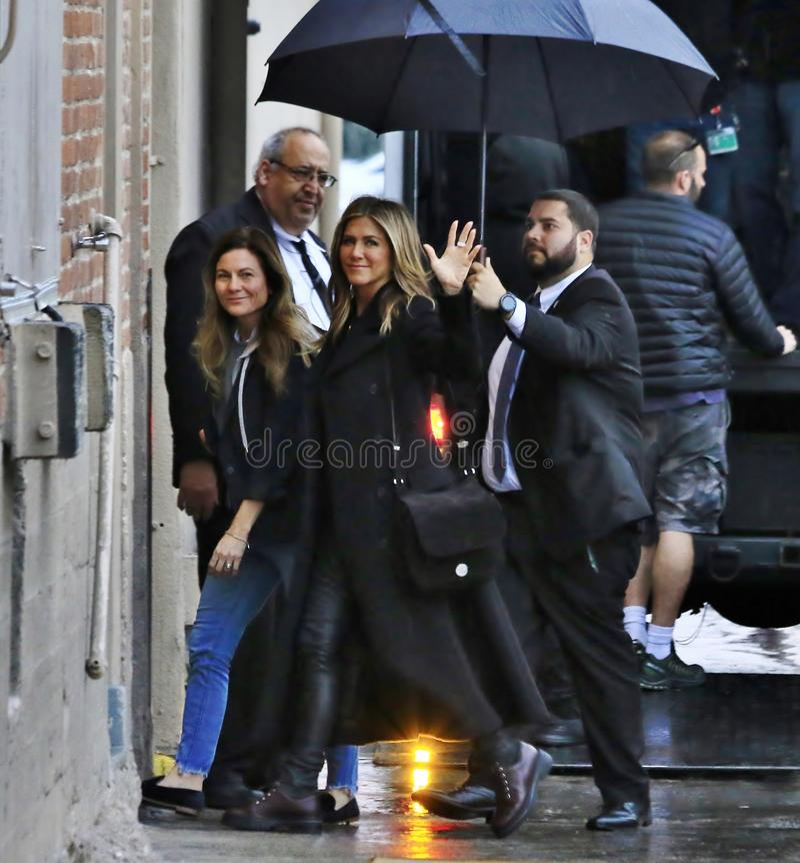 Jennifer Aniston w Hollywood obrazy royalty free