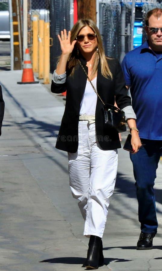 Jennifer Aniston w Hollywood obraz royalty free