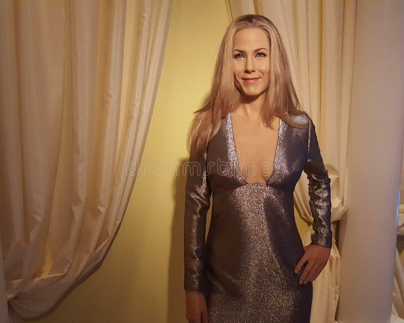 Jennifer Aniston (wax statue) stock photos