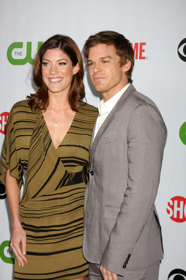 Jennifer Carpenter, Michael C. Hall fotografia stock libera da diritti