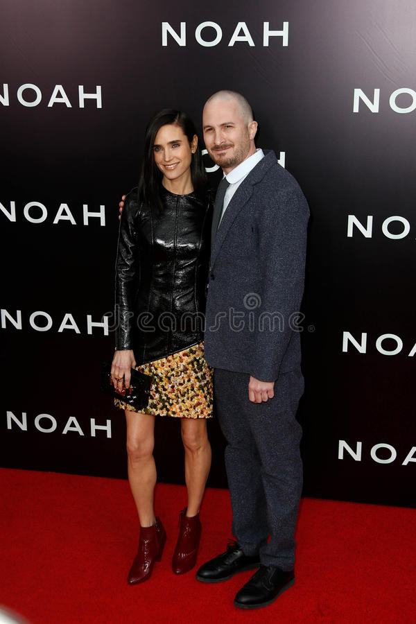 Jennifer Connelly Darren Aronofsky royaltyfri foto
