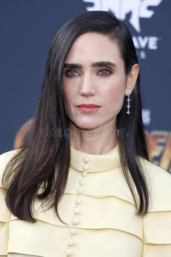 Jennifer Connelly. At the premiere of Disney and Marvel`s `Avengers: Infinity War` held at the El Capitan Theatre in Hollywood, USA on April 23, 2018 stock photos