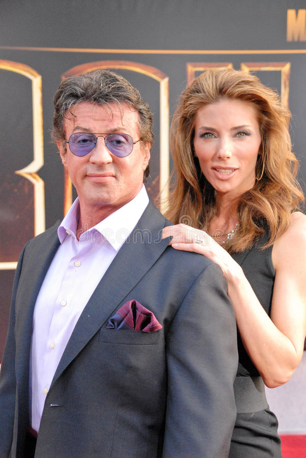 Jennifer Flavin, Sylvester Stallone photo stock