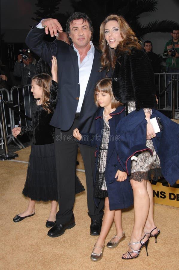 Jennifer Flavin, Sylvester Stallone stock fotografie