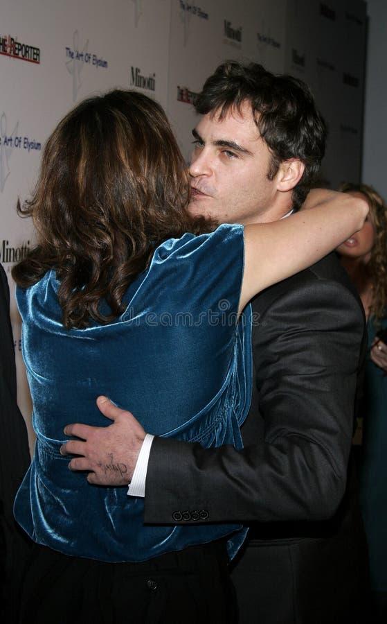Jennifer Howell y Joaquin Phoenix foto de archivo