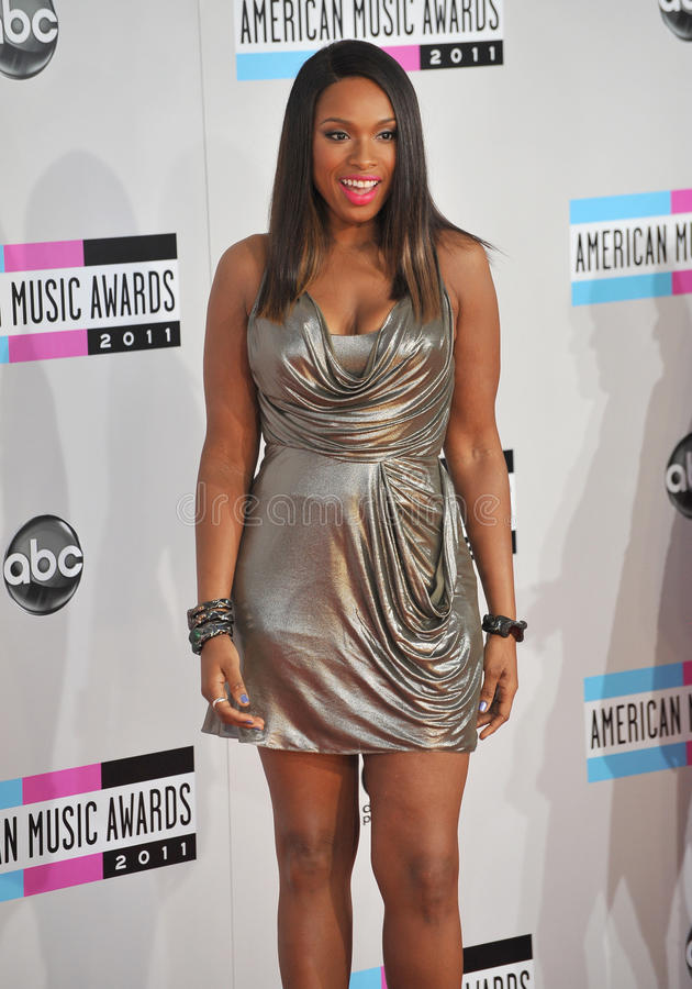 Jennifer Hudson,. Jennifer Hudson arriving at the 2011 American Music Awards at the Nokia Theatre, L.A. Live in downtown Los Angeles. November 20, 2011 Los royalty free stock photo
