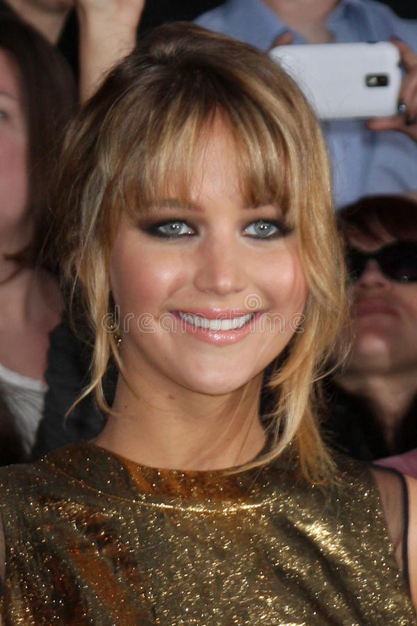 jennifer lawrence royaltyfri bild