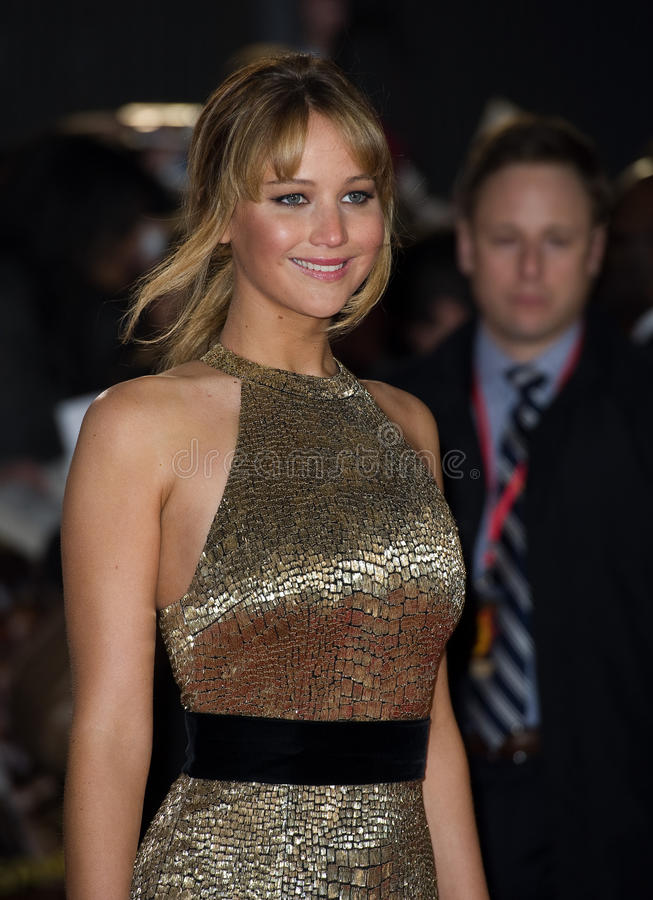 Jennifer Lawrence. Arriving at The Hunger Games Premiere, at the 02 Arena, London. 14/03/2012 Picture by: Simon Burchell / Featureflash stock photo