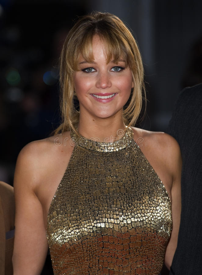 Jennifer Lawrence. Arriving at The Hunger Games Premiere, at the 02 Arena, London. 14/03/2012 Picture by: Simon Burchell / Featureflash stock image