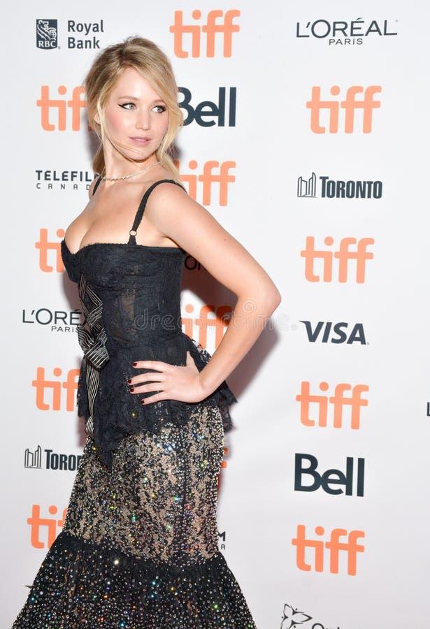 Jennifer Lawrence bij `-Moeder` Première bij Internationaal de Filmfestival van Toronto royalty-vrije stock fotografie