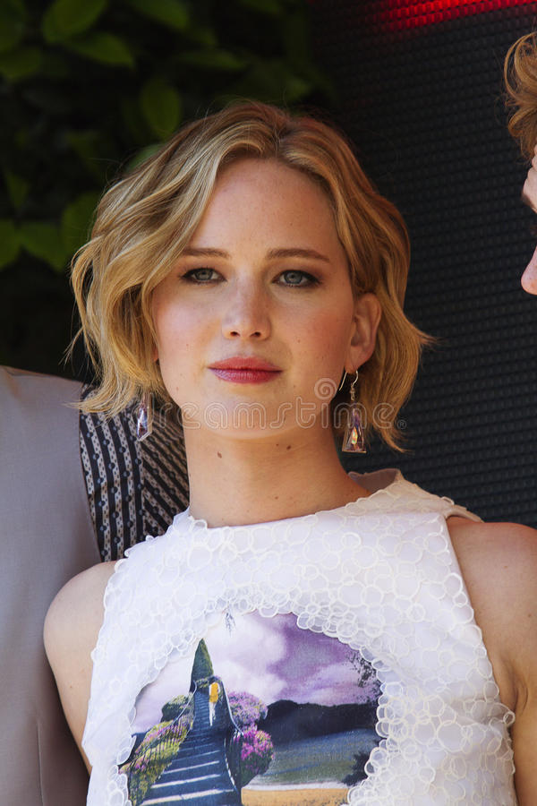 Jennifer Lawrence royalty free stock photo