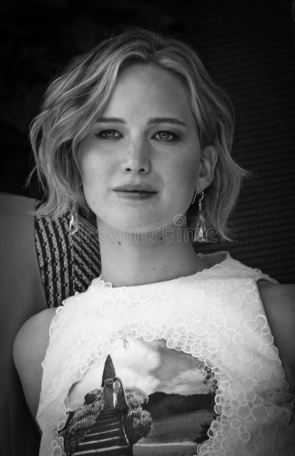 Jennifer Lawrence. CANNES, FRANCE - MAY 17: Jennifer Lawrence attends 'The Hunger Games: Mockingjay Part 1' Photocall - at the 67th Annual Cannes Film Festival stock images