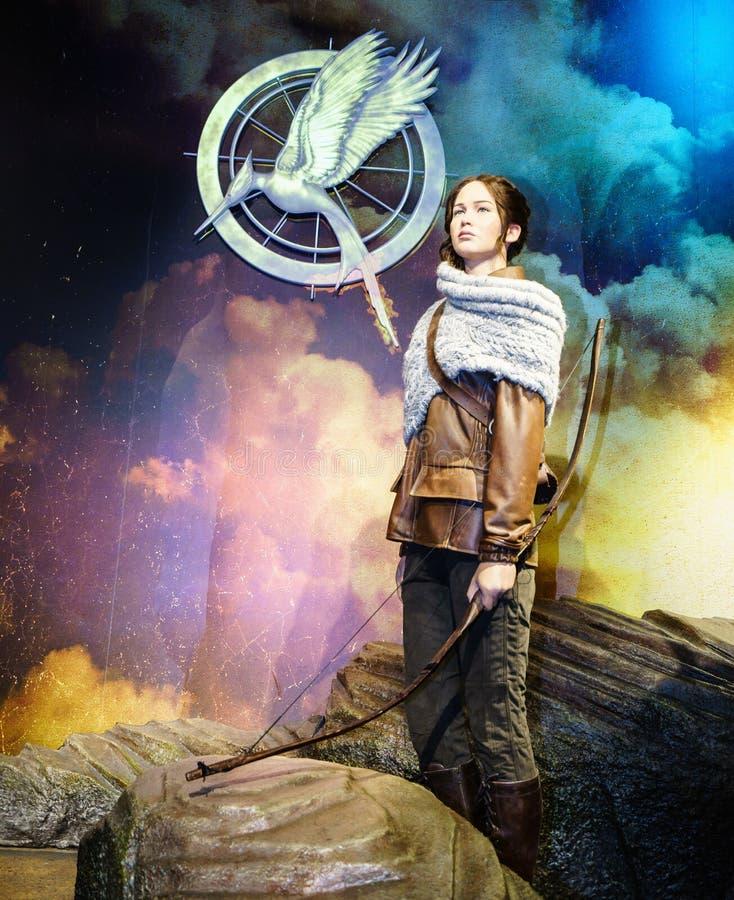 Jennifer Lawrence - les JEUX de FAIM photo libre de droits