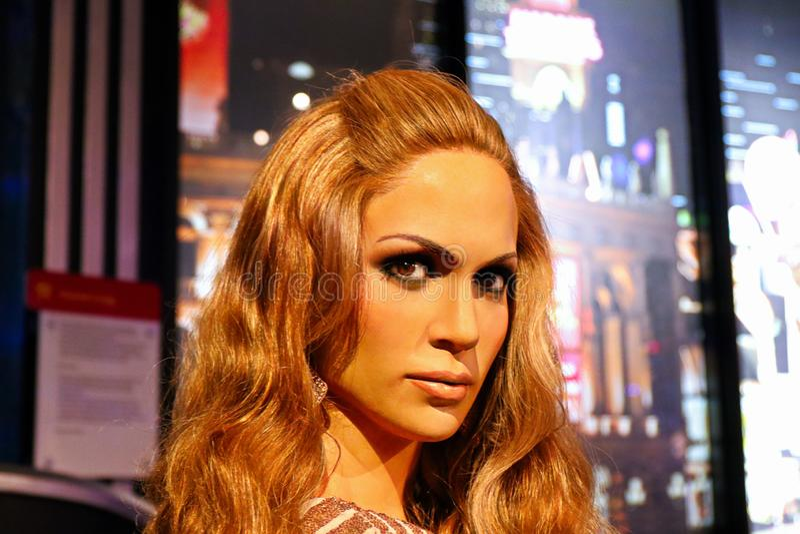 Jennifer Lopez, cantante portoricano ed attrice, museo della cera di signora Tussauds immagini stock