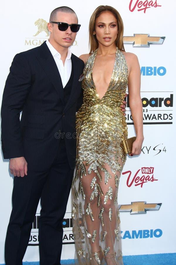 Jennifer Lopez, Casper Smart lizenzfreies stockbild
