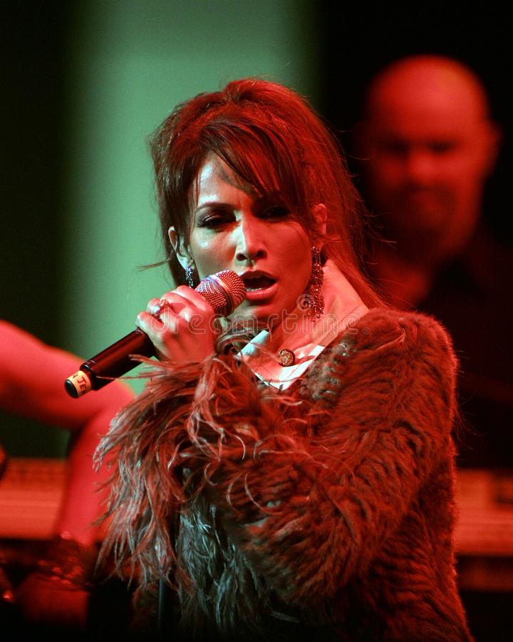 Jennifer Lopez executa no concerto imagem de stock royalty free
