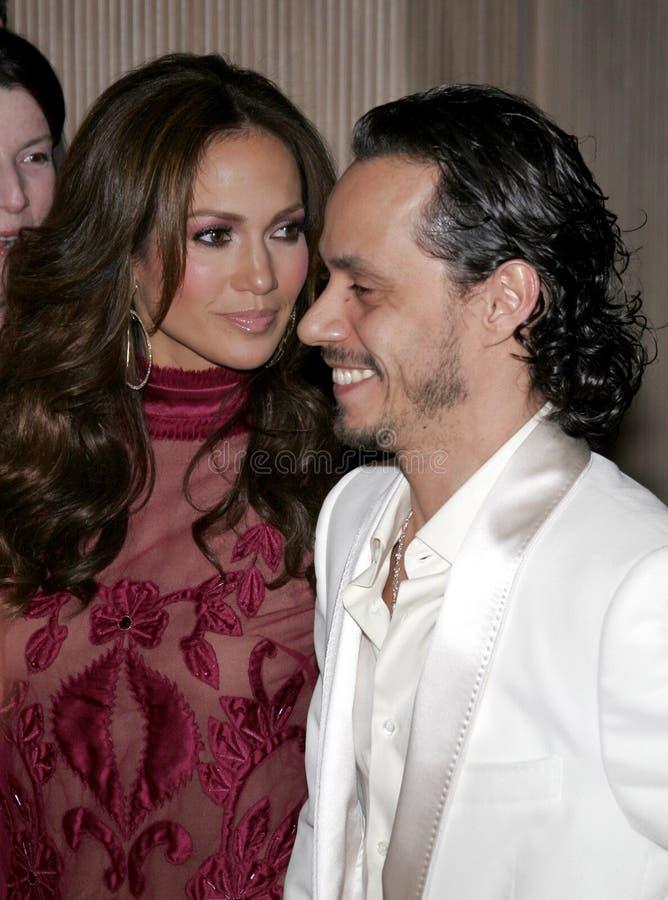Jennifer Lopez i Marc Anthony zdjęcia stock