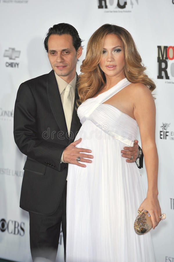 Jennifer Lopez, Marc Anthony stockfotos