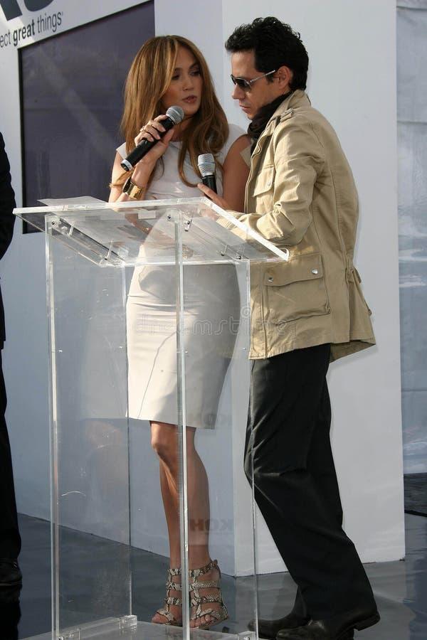 Jennifer Lopez, Marc Anthony photographie stock libre de droits