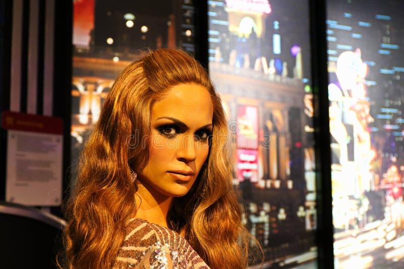 Jennifer Lopez, puertorikanischer Sänger und Schauspielerin, Wachsmuseum Madame Tussauds stockfoto