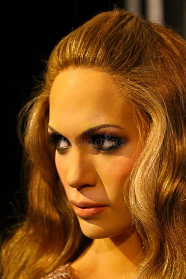 Jennifer Lopez, puertorikanischer Sänger und Schauspielerin, Wachsmuseum Madame Tussauds stockfotos